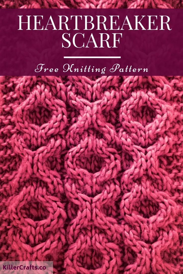 Heartbreaker Scarf - Free cable knit scarf pattern at in ...