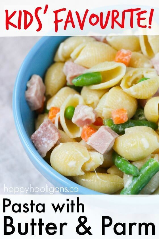 Pasta with Butter and Parm - Favourite Daycare Lunch for Kids images