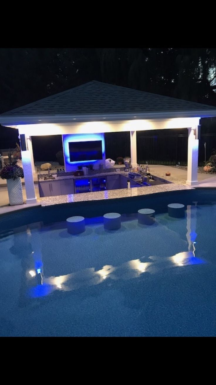 Pool Bar With Built In Stools