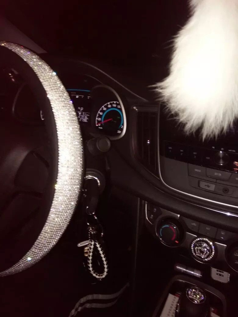 Bedazzled Steering Wheel Cover With Rhinestones Bling Car Accessories Car Accessories For Girls Car Bling