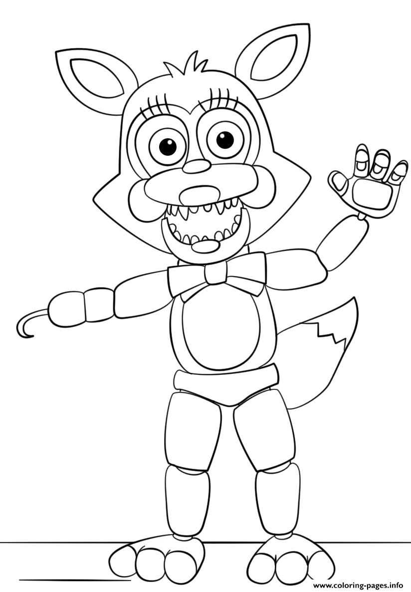 Print Mangle From Five Nights At Freddys Colorin G Pages Fnaf Coloring Pages Coloring Pages Coloring Books