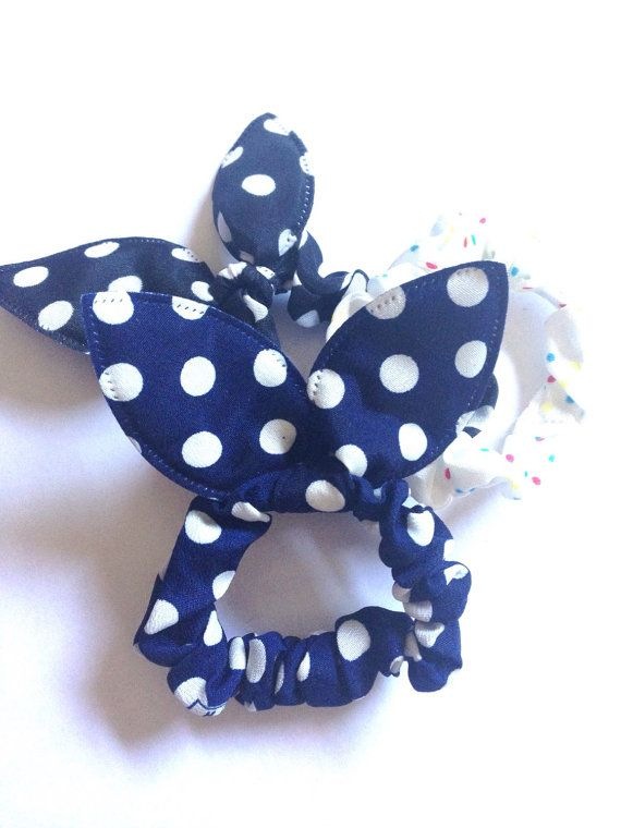 Elastic Hair ties Bunny ears Ponytail Holder Fashion by TheLUX22   #nocreasehairties #etsy #etsyhomemade #supporthomemade #hairties #hairaccessory #accessory #hair #foldoverelastictie #foldoverelastic #stockingstuffer #giftsforgrads #giftsforgirls