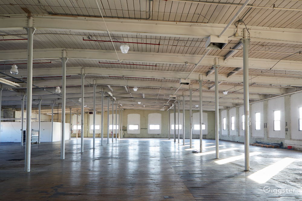 Large Old Warehouse With Shelves Rent This Location On Giggster Warehouse Rent Loft Living