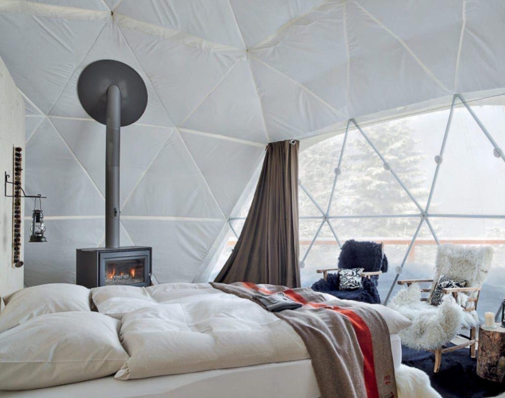 Whitepod Eco-Luxury Hotel ❄ Valais – Switzerland – Unique hotel | King bedroom sets, Luxury hotel, Valais