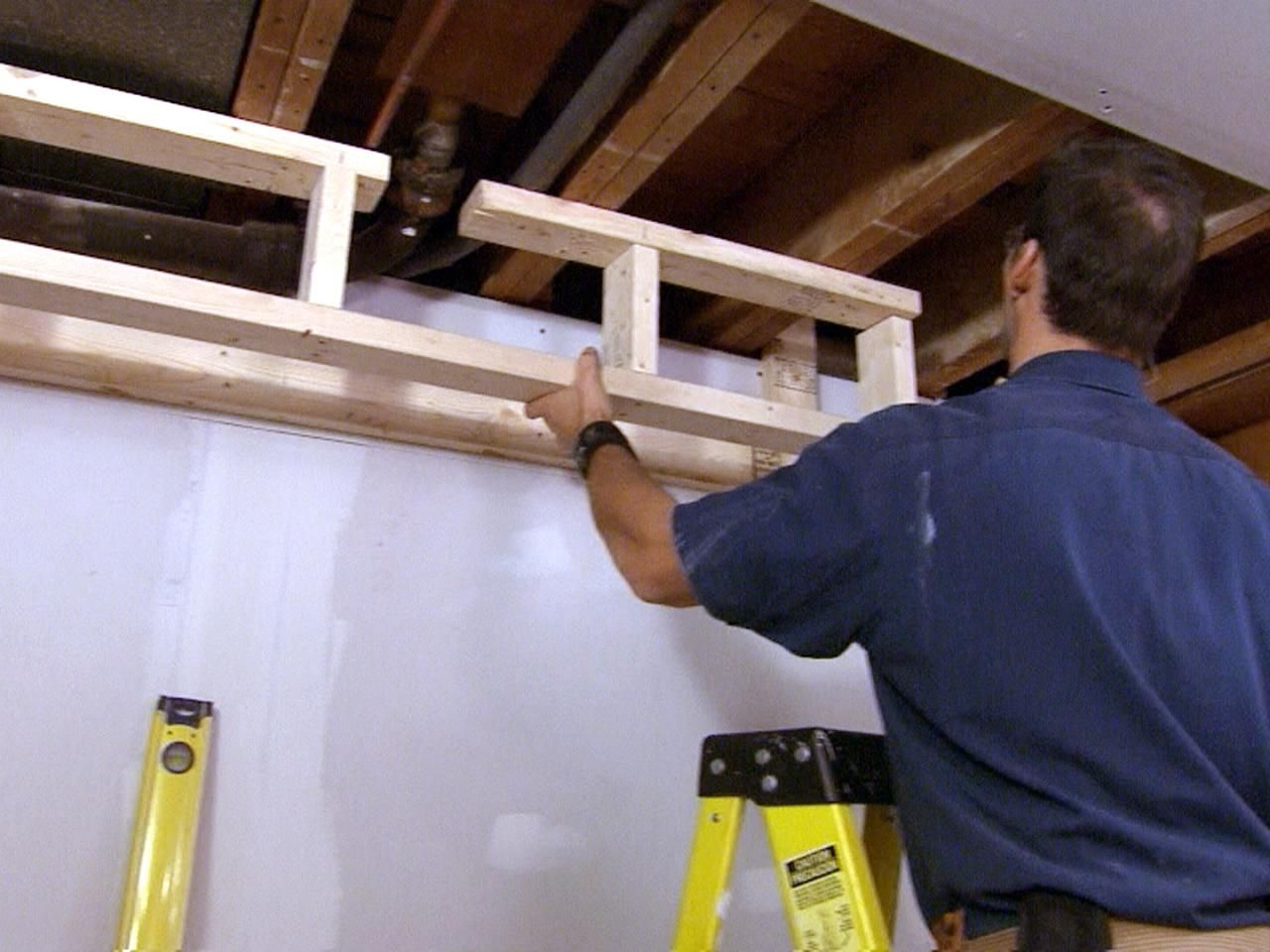 How to Build a Soffit in 2020 | Building a basement ...