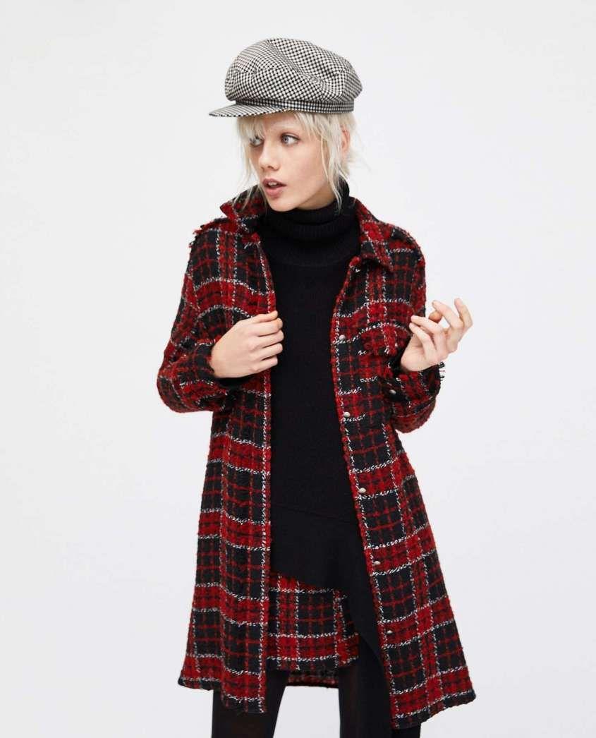057f8320f09f7 Cappotti a quadri inverno 2018 - Cappotto scozzese a quadri Zara ...