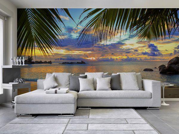 Pin de papel pintado barcelona en fotomurales playas for Murales decorativos paisajes