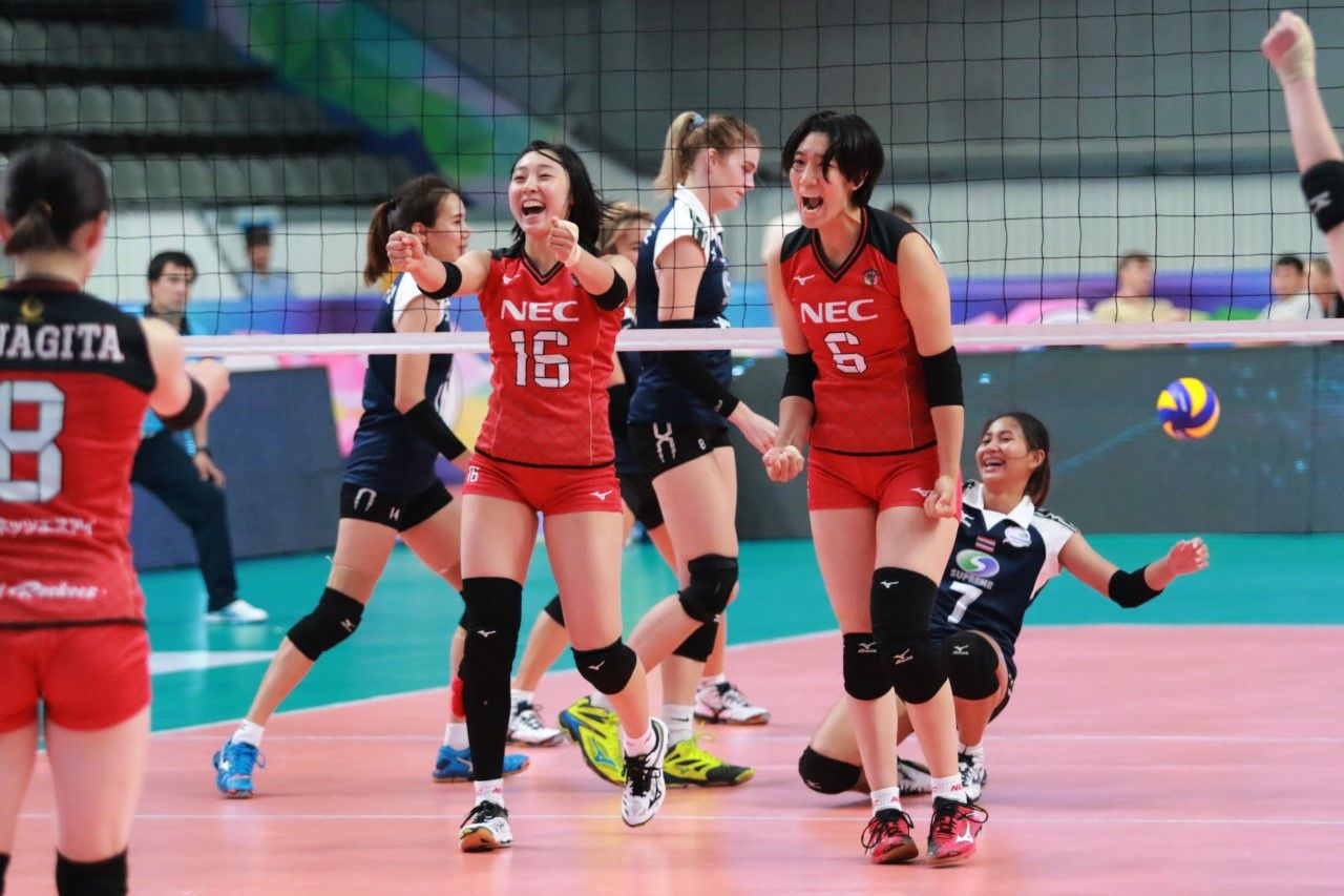 Nec Red Rockets Cmfc Garuda Register Wins On Day 2 Of Asian Women S Club Championship World Volleyball Asian Woman Asian Women