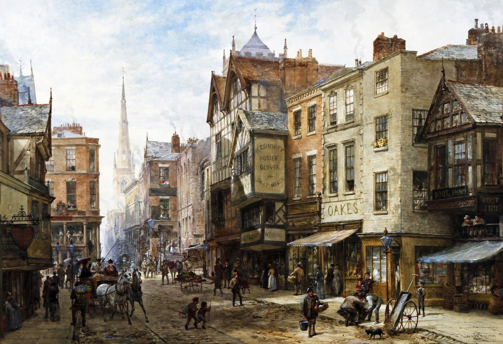 History of watercolor art - Alex Aki Art Louise Ingram Rayner June 1832 8 October Was A British Watercolor Artist She Lived In Chester In The Welsh Marches But Travelled