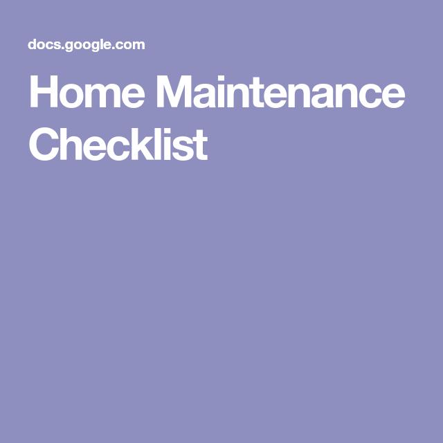 homeowner maintenance