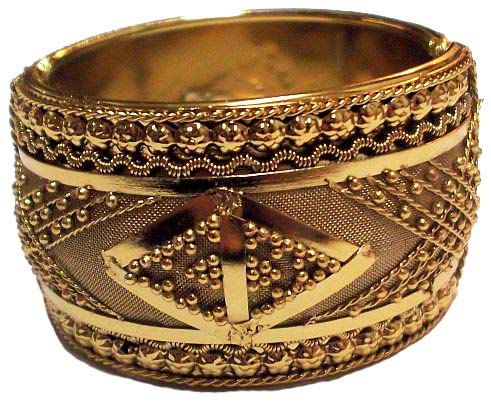 bangle id bangles jewelry l at retro thick bracelets j ridged gold hinged bracelet for sale wide