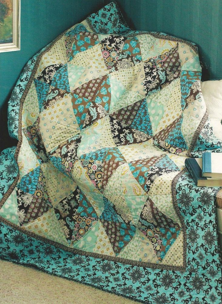 Scrappy Diamonds Quilt Pattern From A Magazine Quilt