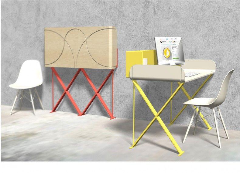Questo progetto si pone come una scrivania richiudibile per chi lavora da casa, per chi vuole un angolo riservato