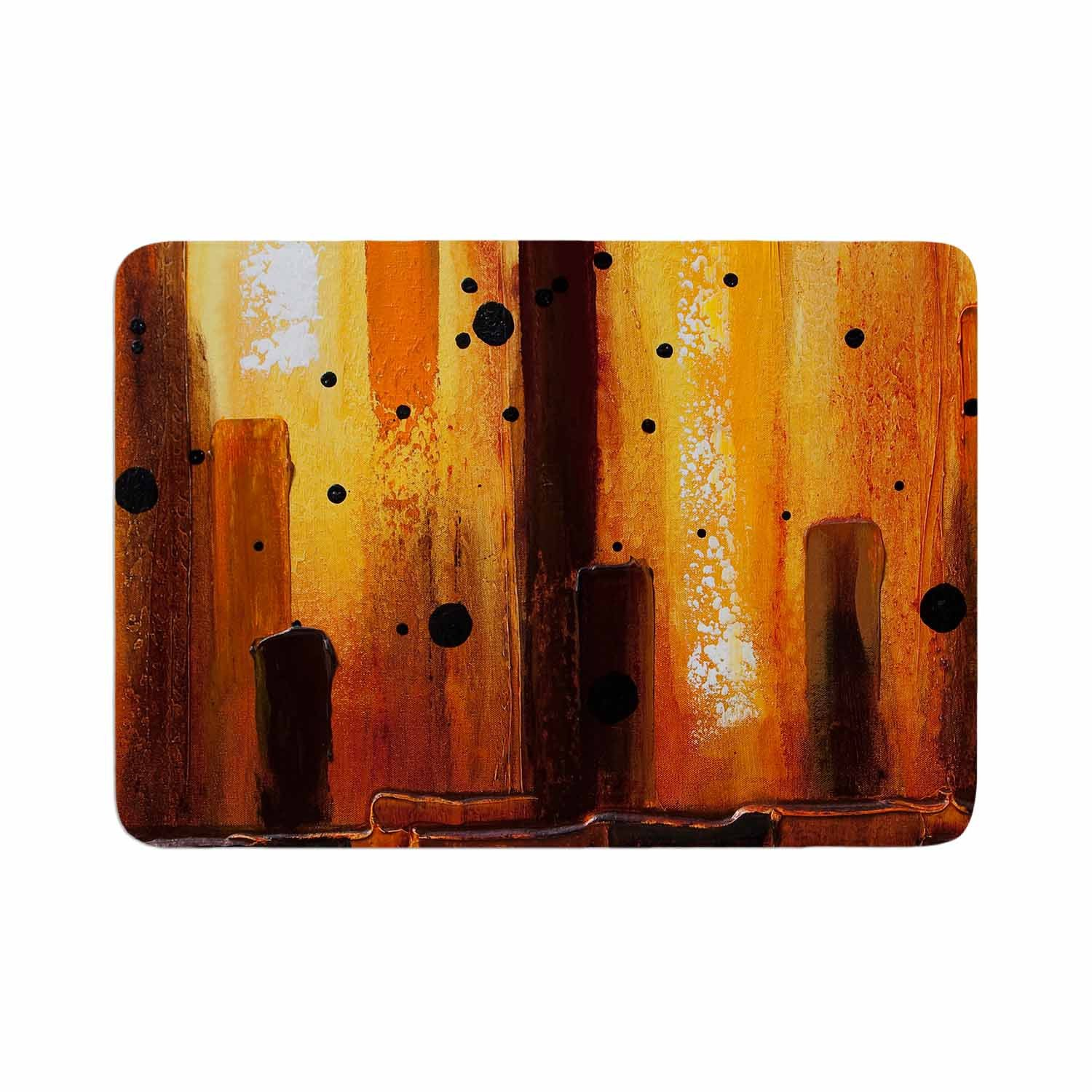 Steven Dix Falling Embers Orange Black Painting Memory Foam Bath