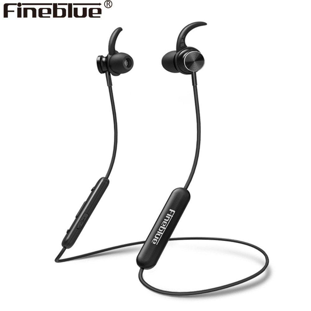 Fineblue Mate 10 Magnetic Wireless Bluetooth 4 1 Headset Neckband Sport Headphone Stereo Bass Earphone E Bluetooth Headset Wireless Earphones Sports Headphones