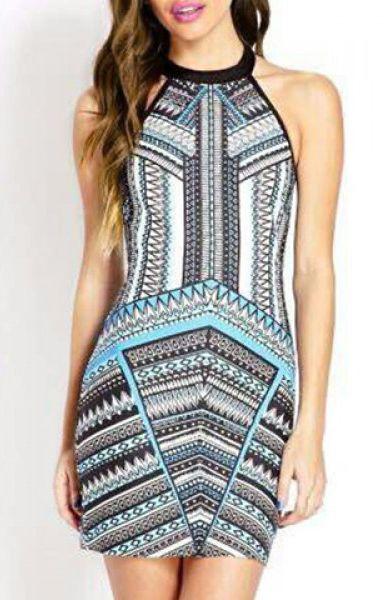 Love this geometric dress!! #geometric #dress