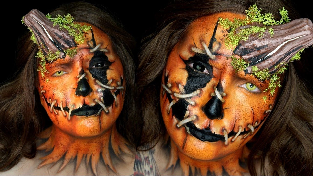 Pumpkin Head Halloween Makeup Tutorial by Jordan Hanz