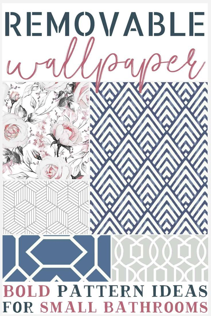 Photo of Bold Removable Wallpaper Patterns for Small Bathrooms – The Weathered Fox