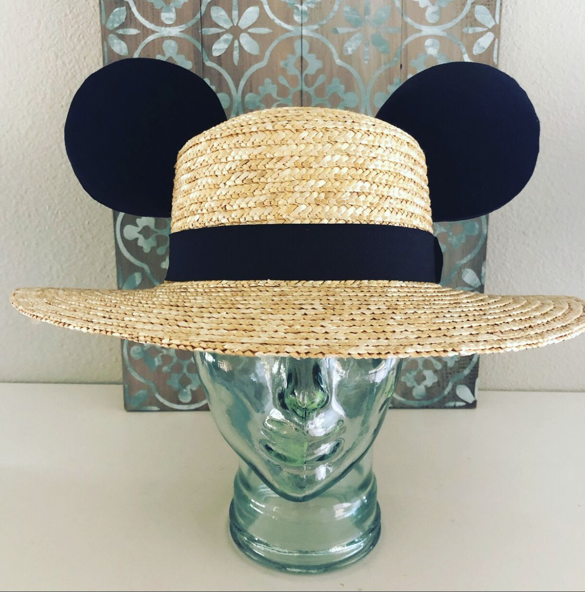 Boater Mouse Ears Beach Hat