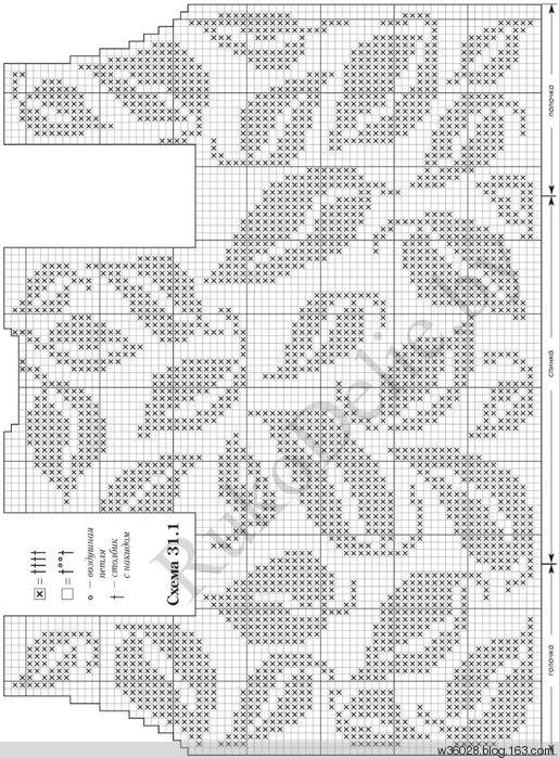 схемы филейного вязания крючком для платья