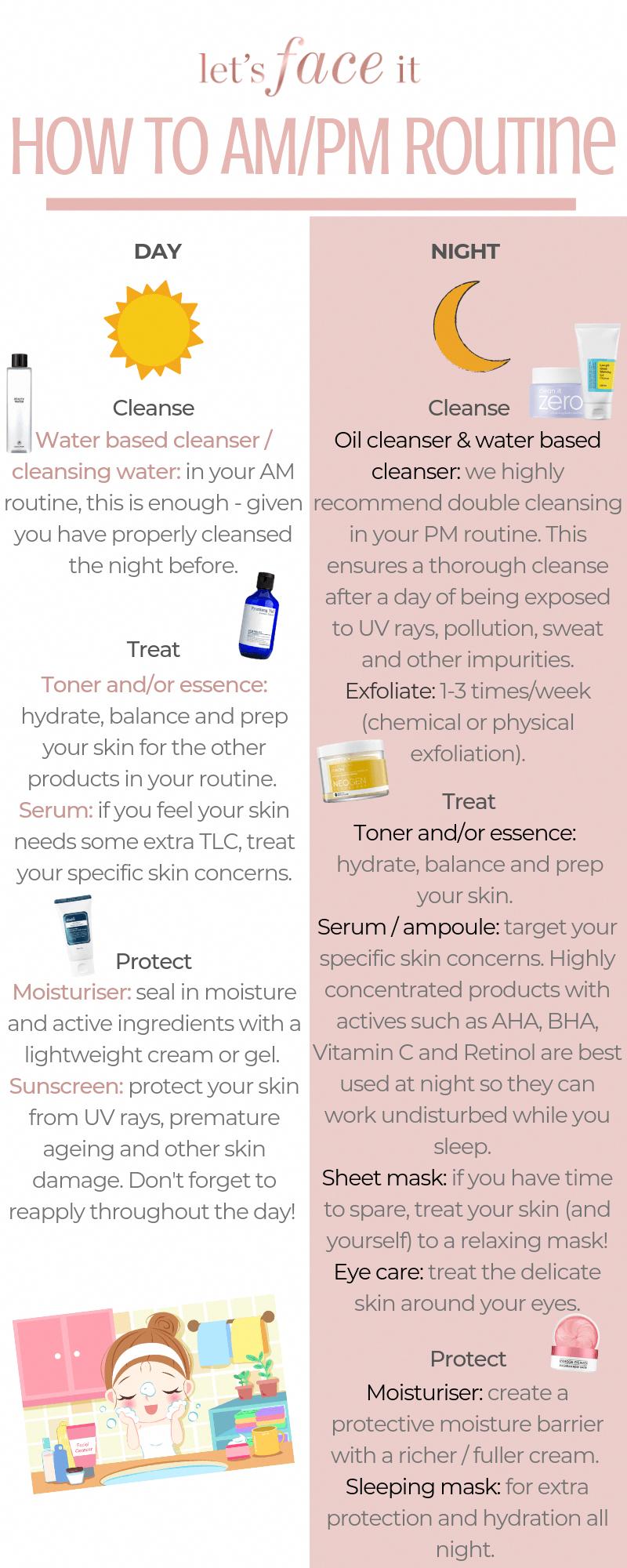 How To Korean Skincare Routine Day Night Night Skin Care Routine Korean Skincare Routine Skin Care Routine Steps