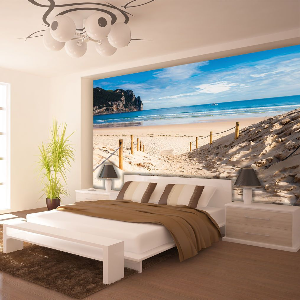 poster wandbild tapeten fototapete wasser meer strand sandstrand 3fx2281p8 wall murals. Black Bedroom Furniture Sets. Home Design Ideas