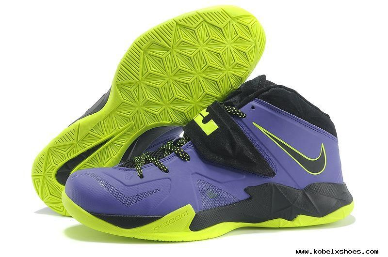 brand new da776 1507c Nike Lebron Zoom Soldier VII Court Purple Flash Lime Sale Online