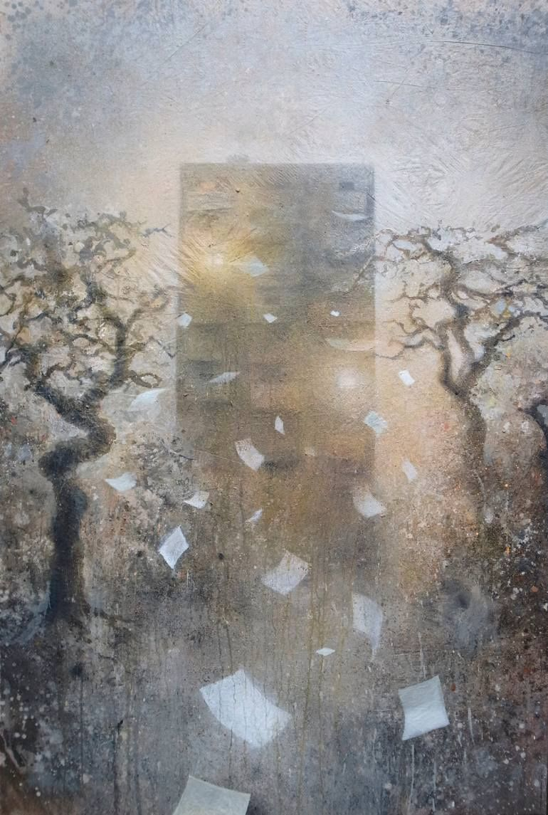 """Saatchi Art Artist Kevin Gray; Painting, """"Papers (On show at Galerie Zulauf)"""" #art"""