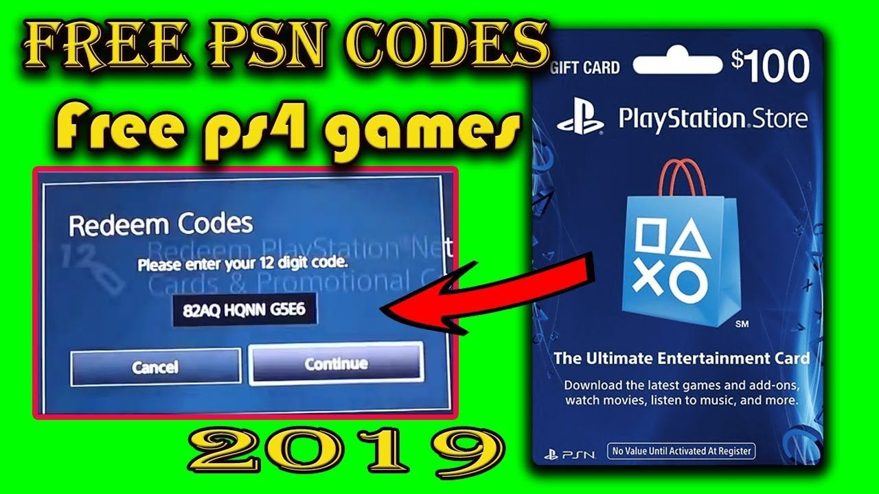 How To Get Free Psn Codes 2019 Free Ps4 Games Psn Gift Card