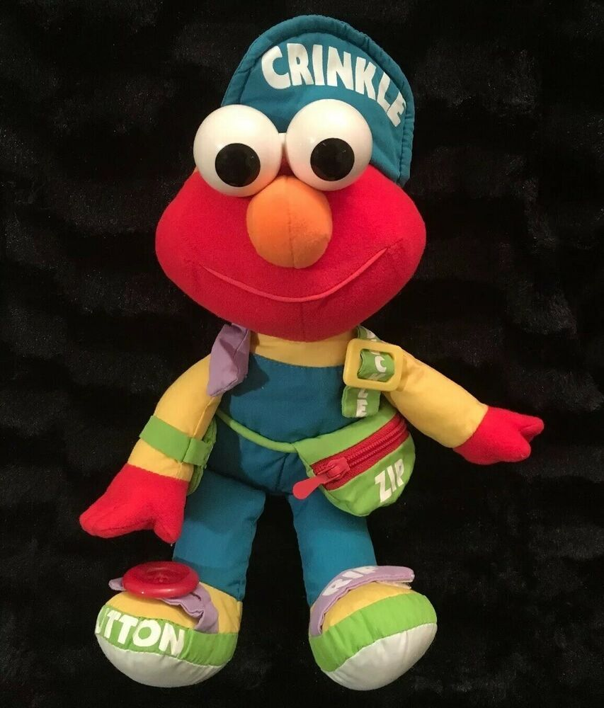 Details about TYCO SESAME STREET DRESS ME UP ELMO PLUSH 1995