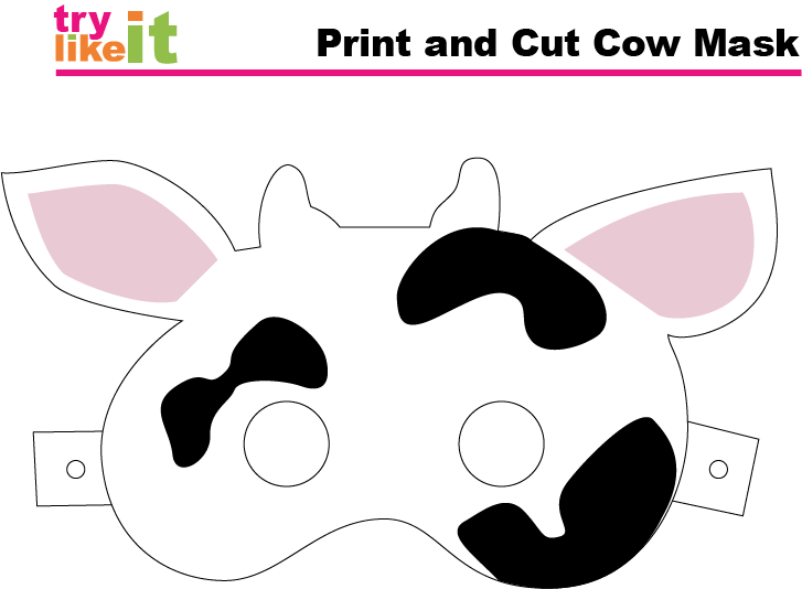 image relating to Cow Costume Printable referred to as Pin upon Do-it-yourself Crush Backlink Celebration