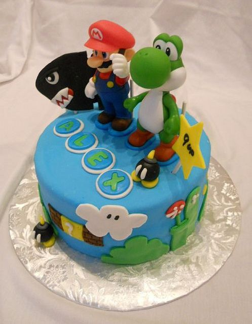This 9th Birthday Cake With A Super Mario Bros Theme Was Delivered To Manhattan Past Weekend The And Yoshi On Are Toys