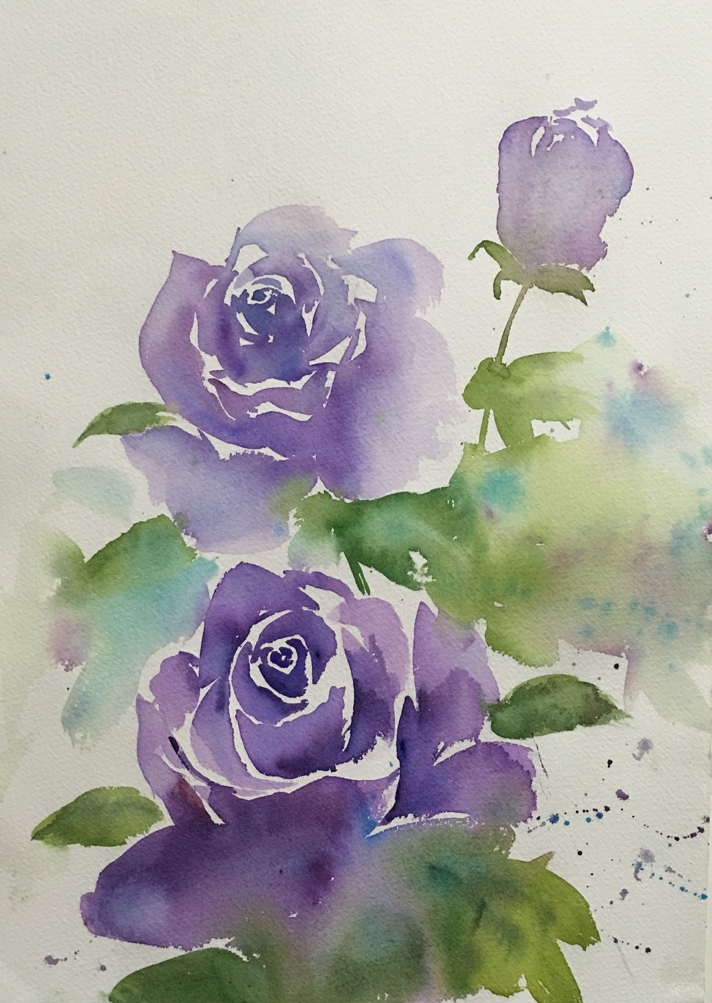 Watercolor Rose Watercolor Paintings Easy Watercolor Flowers