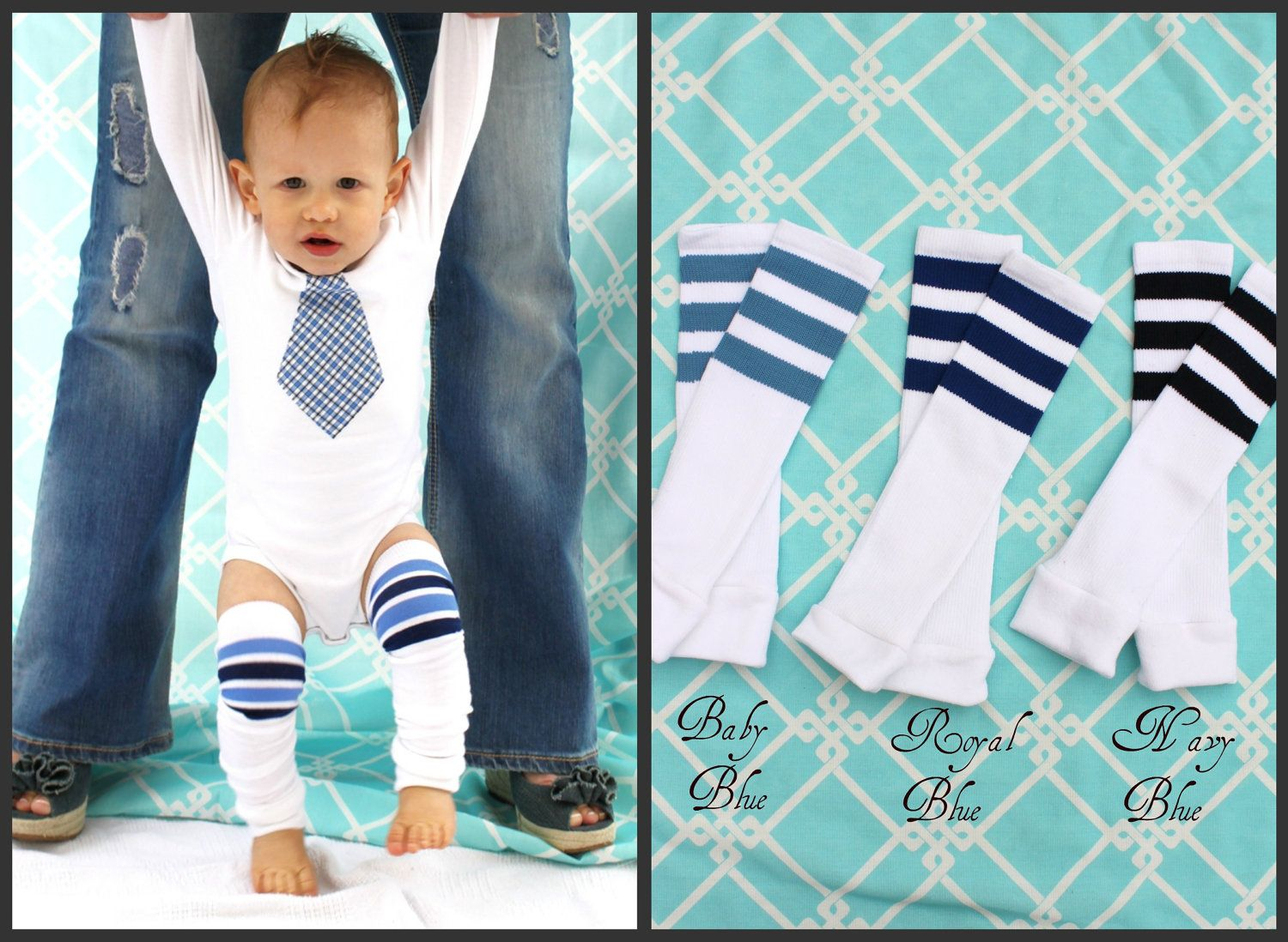 JUST IN NEW Football Striped Leg Warmers & by ChicCoutureBoutique, $27.95. I think the boys will be mad at me for this outfit.