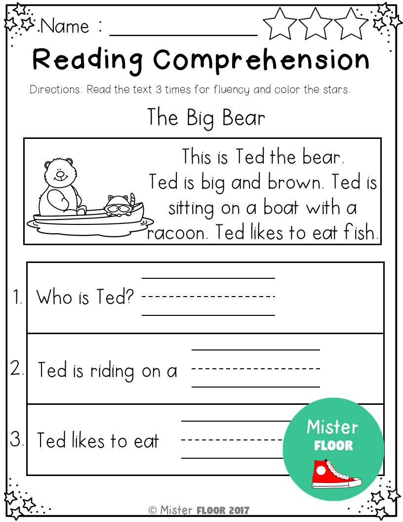 - Kindergarten Reading Comprehension (Summer) (With Images
