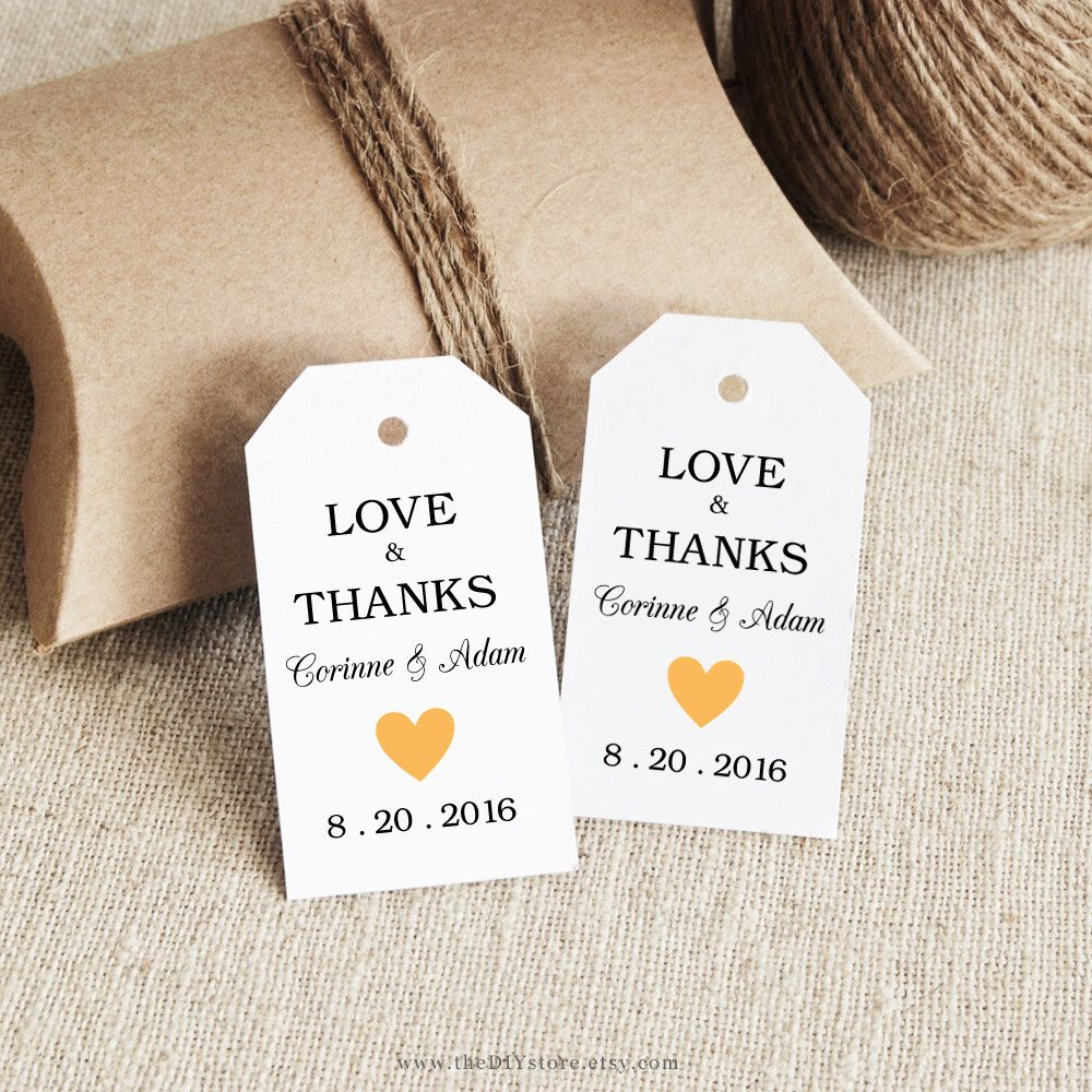 Favor Tag Printable, Text Editable, SMALL size, Gift Tags, Favor tag ...