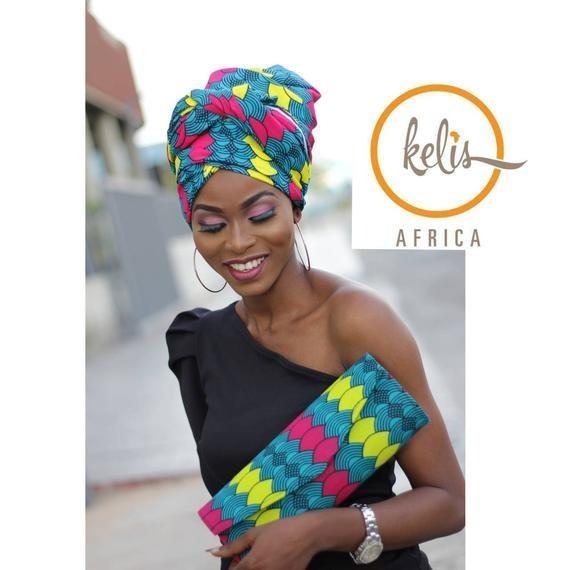 Afrikanische Headwraps | Ankara Print Headwrap | Kopftuch drucken | Afrikanischer Druck Headwrap / Newn #afrikanischerdruck