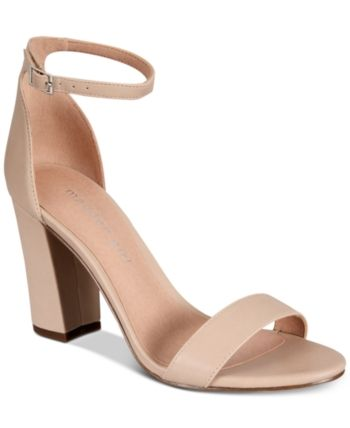 db78b2368575e4 Madden Girl Bella Two-Piece Block Heel Sandals - Pink 8.5M