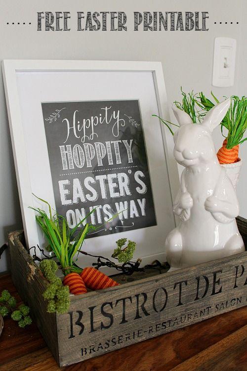 Cute chalkboard Easter printable and decor ideas! // cleanandscentsible.com  ...die Möhren sind absolut klasse