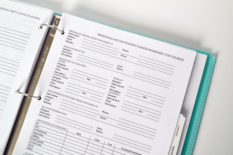 Ultimate Wedding Planner Over 75 Organizational Printables Binder Set Instant