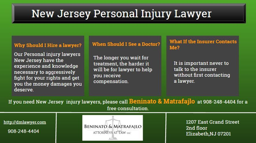 Personal injury lawyers NJ will tell you that the most important thing for you to do is to ensure that you get all of the appropriate medical treatment needed.