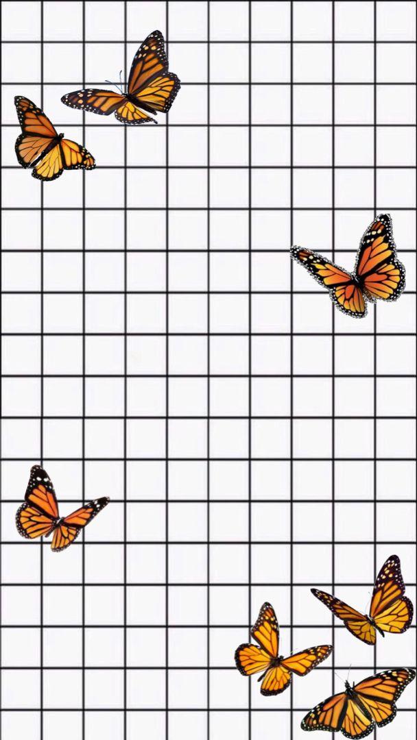 Wallpaper Butterflies In White In 2020 Butterfly Wallpaper Iphone Cute Patterns Wallpaper Iphone Wallpaper Tumblr Aesthetic
