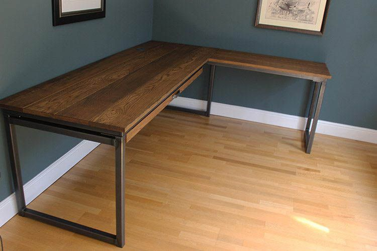 Cool And Contemporary C Shaped Corner Desk Only In Interioropedia Design Industrial Office Desk Diy Corner Desk Furniture