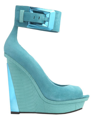 Brian Atwood wedges #blue