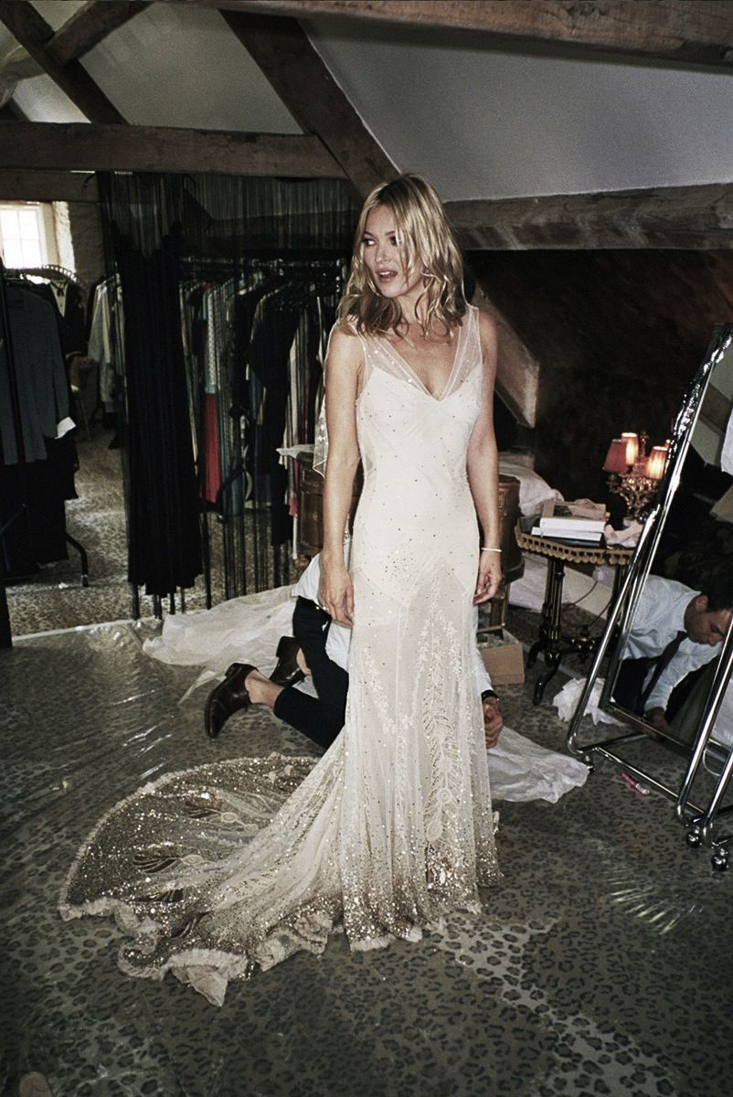 4a3054db8c6 Kate Moss in her John Galliano wedding dress