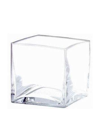 Clear Glass Square Vase 4 Centerpieces Pinterest