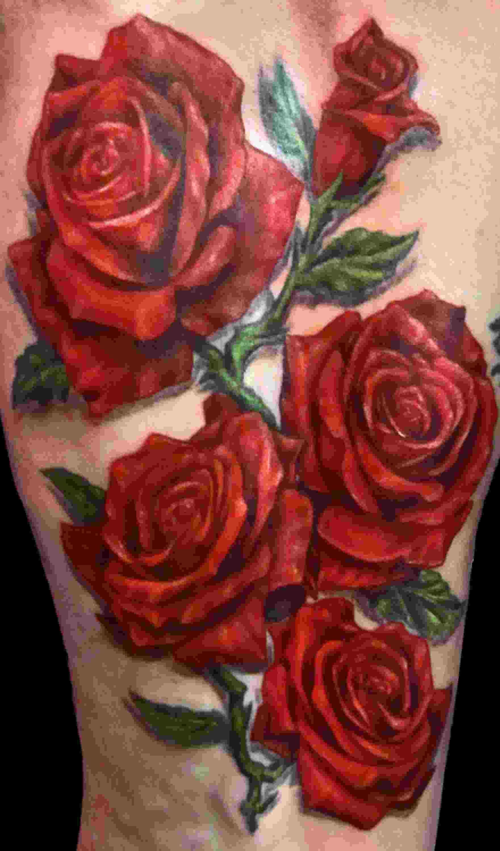 Realistic Red Roses Tattoo Rose Tattoos Rose Tattoo Design Red Rose Tattoo