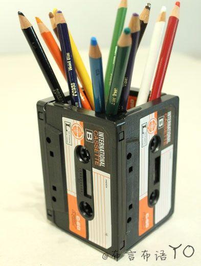 Recyclage cr atif des cassettes audio 15 id es for Bricolage creativo