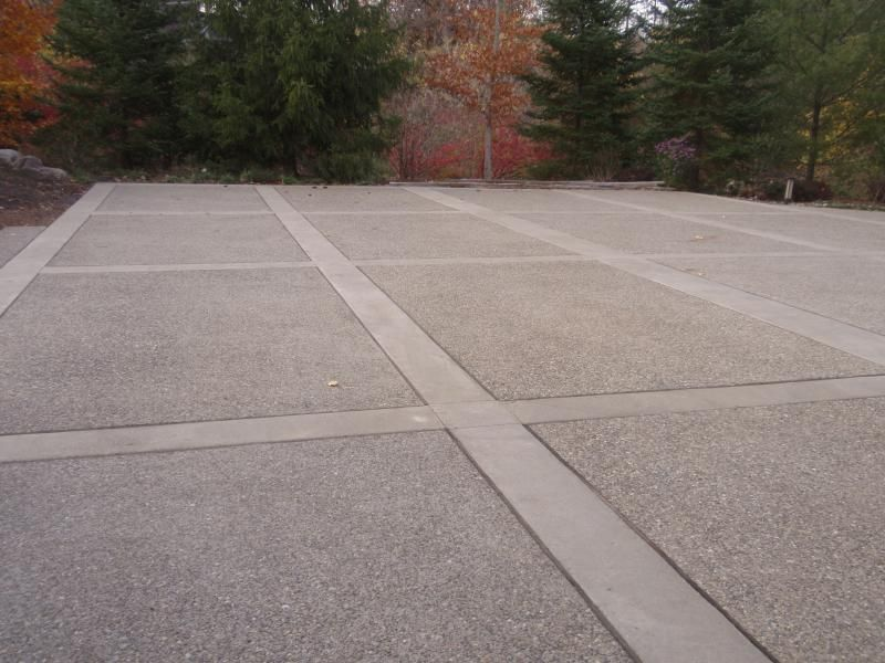Concrete Driveway Design Ideas concrete driveway stencil patterns with paver border best driveway replacement ideas Exposed Aggregate Concrete Driveway Cincinnati Mason Ohio