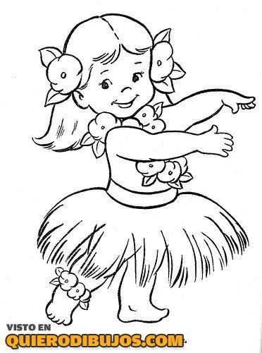 nina-hawaiana-para-colorear.jpg (372×500) | Verjaardag kids ...
